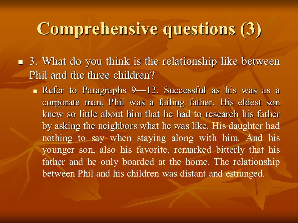 Comprehensive questions (3) 3.