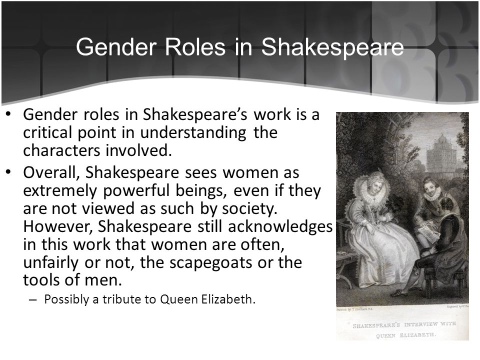 gender roles in shakespeare essay