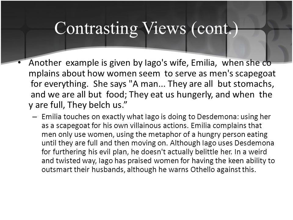 The protestant leader John Knox wrote: Women in her greatest perfection was made to serve and obey man.