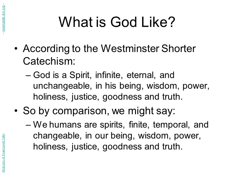 What is God Like.