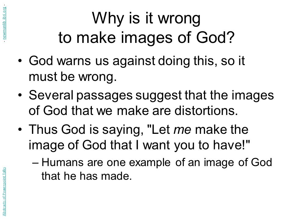 What does it mean to say that Christ is the image of God.