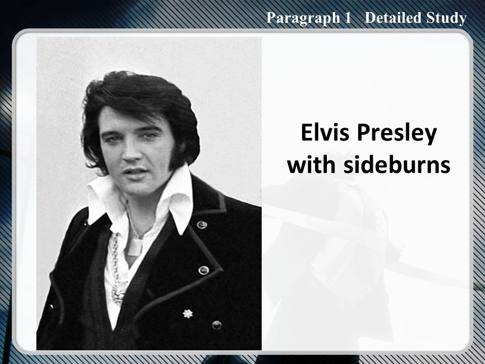 Paraphrase: a whole generation had never thought that one might suffer extreme agony about whether to grow sideburns or wear trousers of a completely different shape.