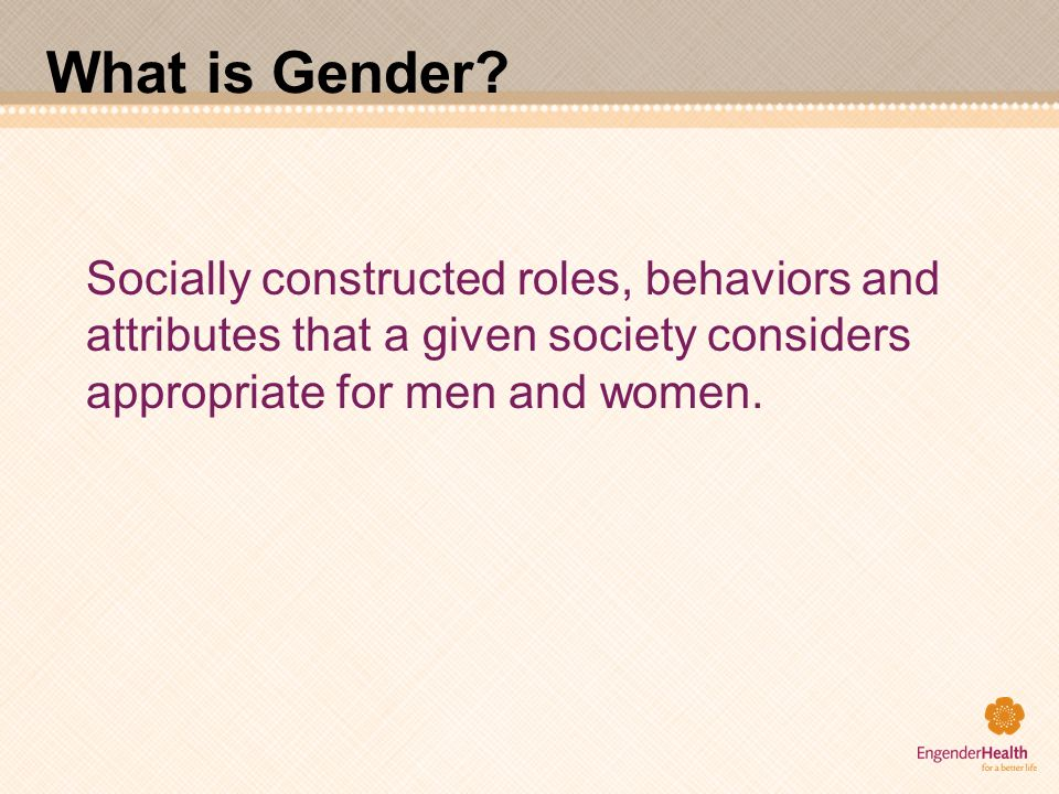 What is Gender.