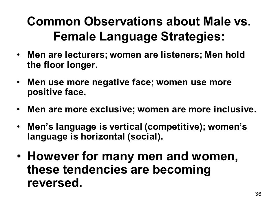 36 Common Observations about Male vs.