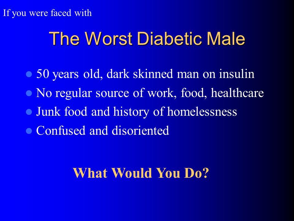 Insulin Dependent Diabetes Mellitus Testosterone IM Reduces Insulin Requirements 72 yo.