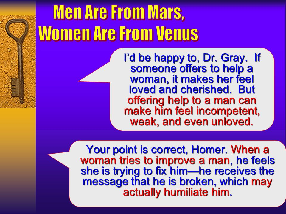 So, Dr. Gray, if everyone on Venus (all women) are very involved in beautiful things like personal growth, spirituality, and everything that can nurtu