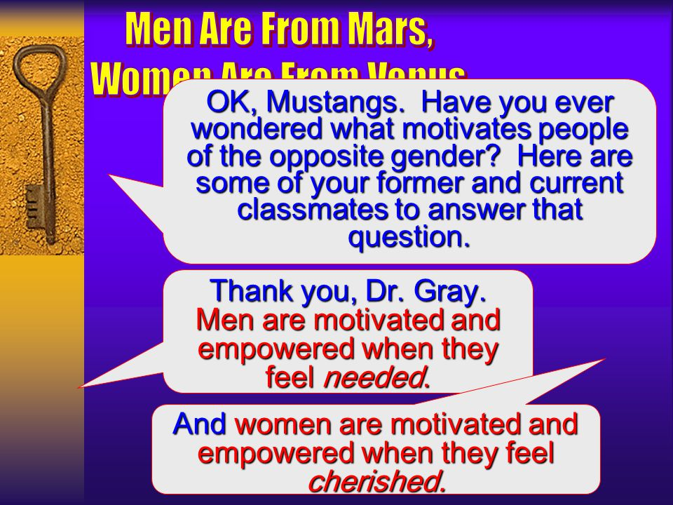 Women generally do not understand how Martians cope with stress. They expect men to open up and talk about all their problems the way Venusians do. Th