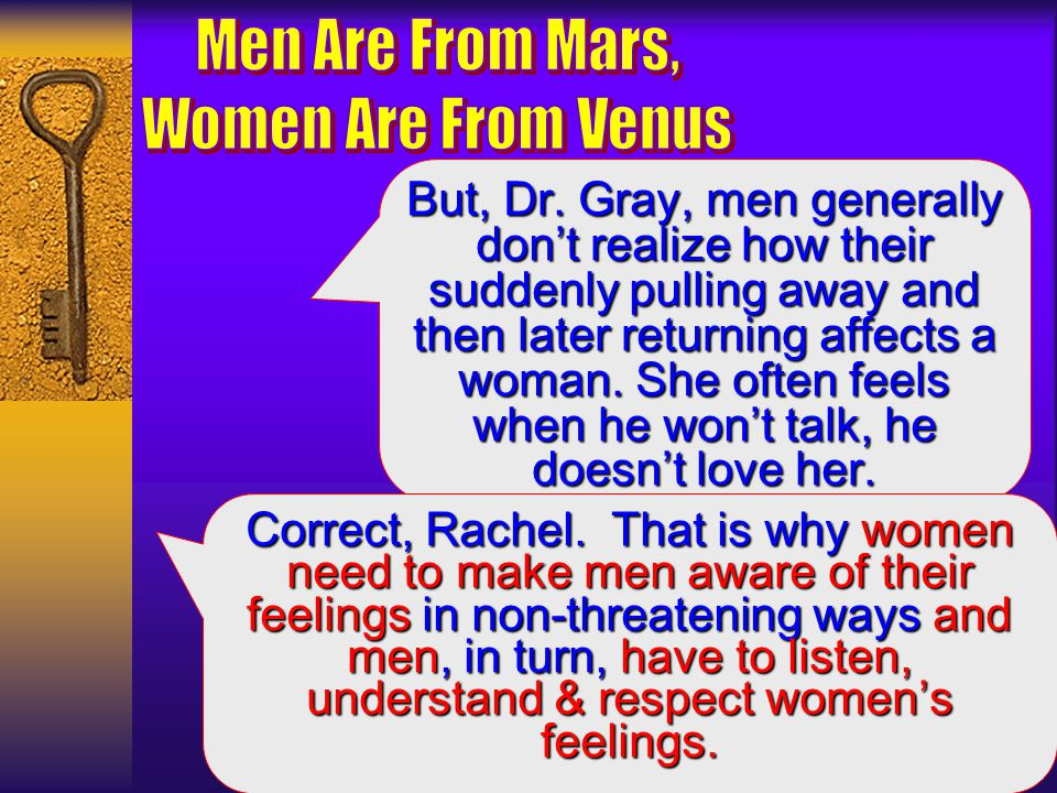 Here is what I mean, and this can be very confusing for women.