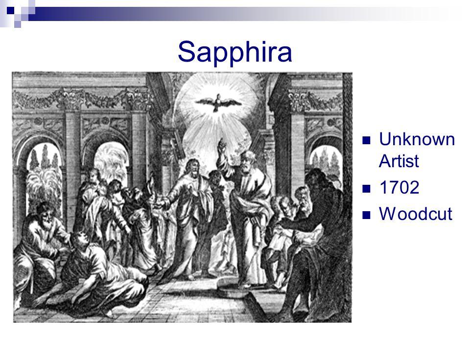 Sapphira Unknown Artist 1702 Woodcut