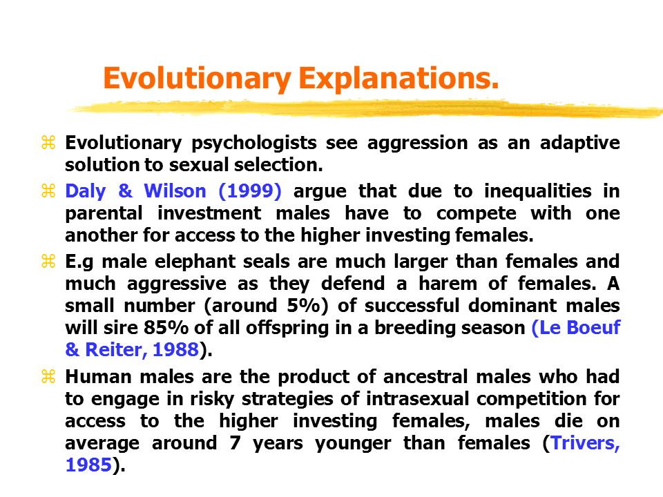 Evolutionary Explanations.