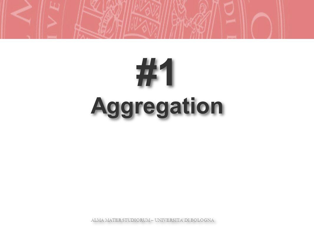 ALMA MATER STUDIORUM – UNIVERSITA DI BOLOGNA ALMA MATER STUDIORUM – UNIVERSITA DI BOLOGNA #1 Aggregation