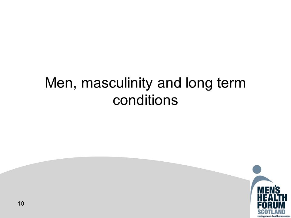 10 Men, masculinity and long term conditions