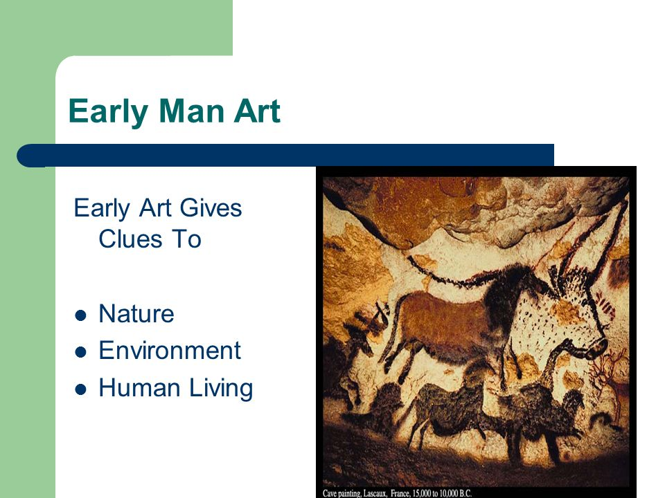 Early Man Art Early Art Gives Clues To Nature Environment Human Living