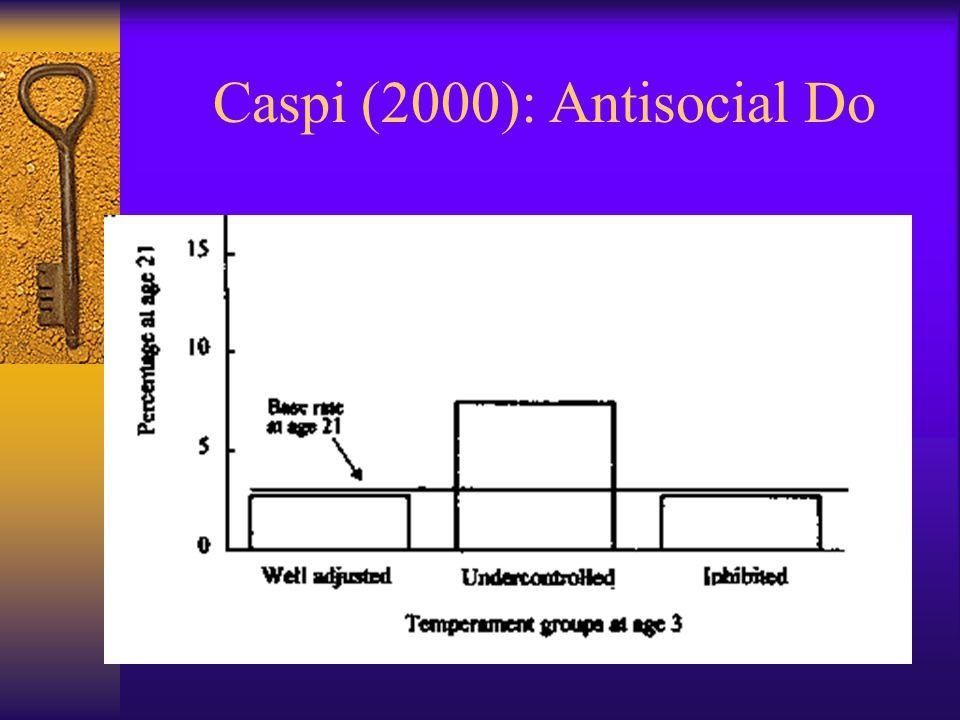 Caspi (2000): Antisocial Do
