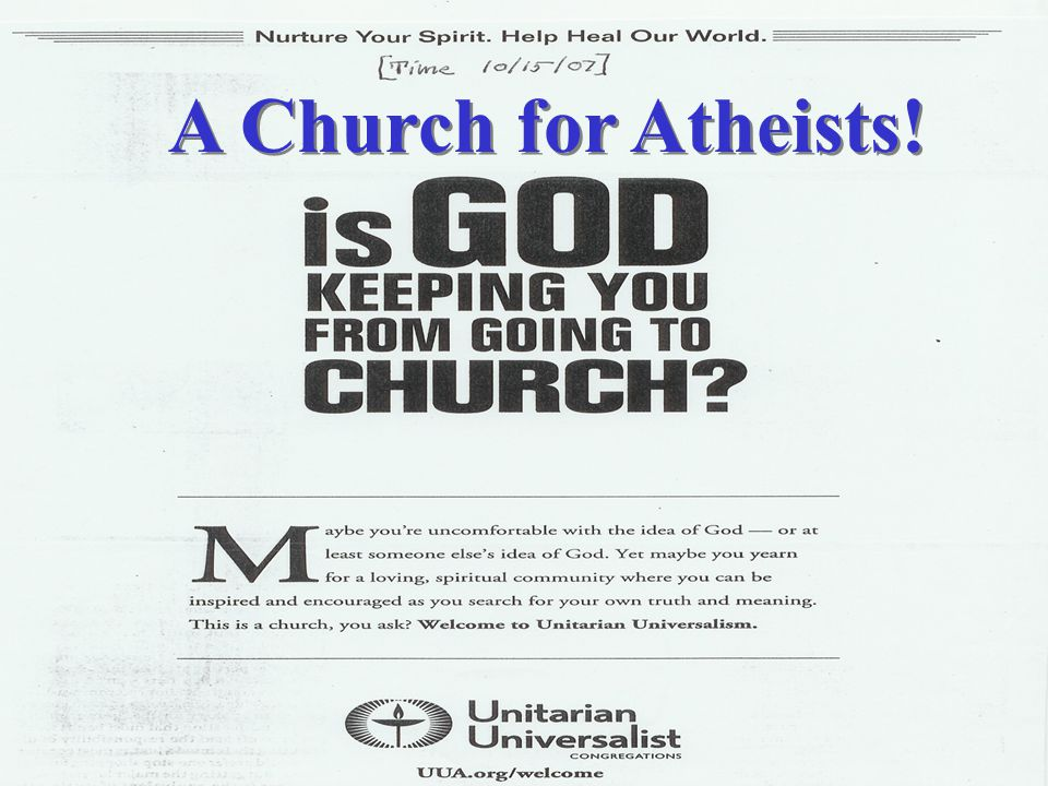 A Church for Atheists!