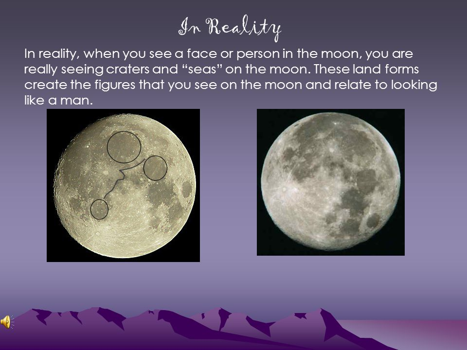 Different Types of Moons Many people see a face on the side of crescent moons.