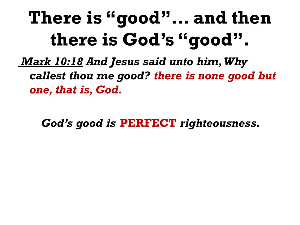 There is good… and then there is Gods good.