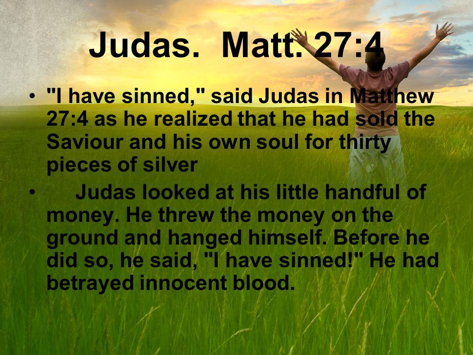 Judas. Matt.