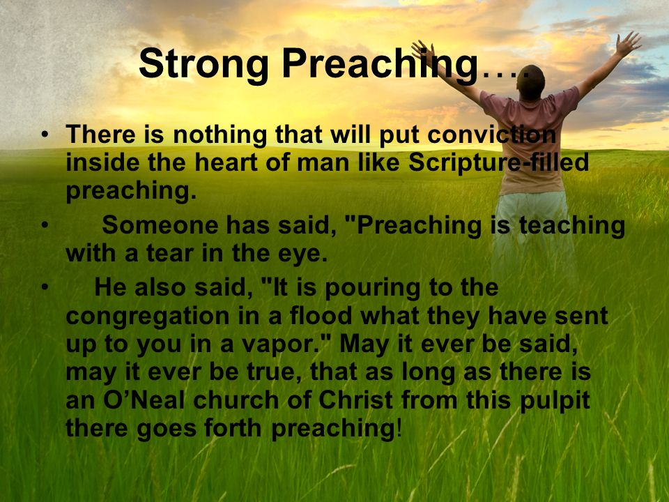 Strong Preaching….