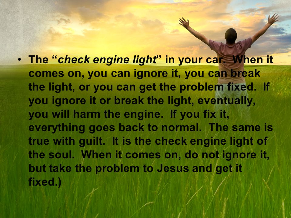 The check engine light in your car.