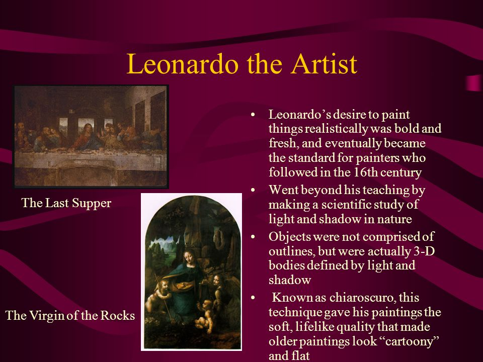 Leonardo the Inventor Adapted drawing skills to the more lucrative fields of architecture, military engineering, canal building and weapons design Leonardo wanted to create new machines for a new world Based on the gear, he came up with loads of different ideas, including the bicycle, a helicopter, an auto-mobile, and many military weapons Leonardos first idea for a catapult