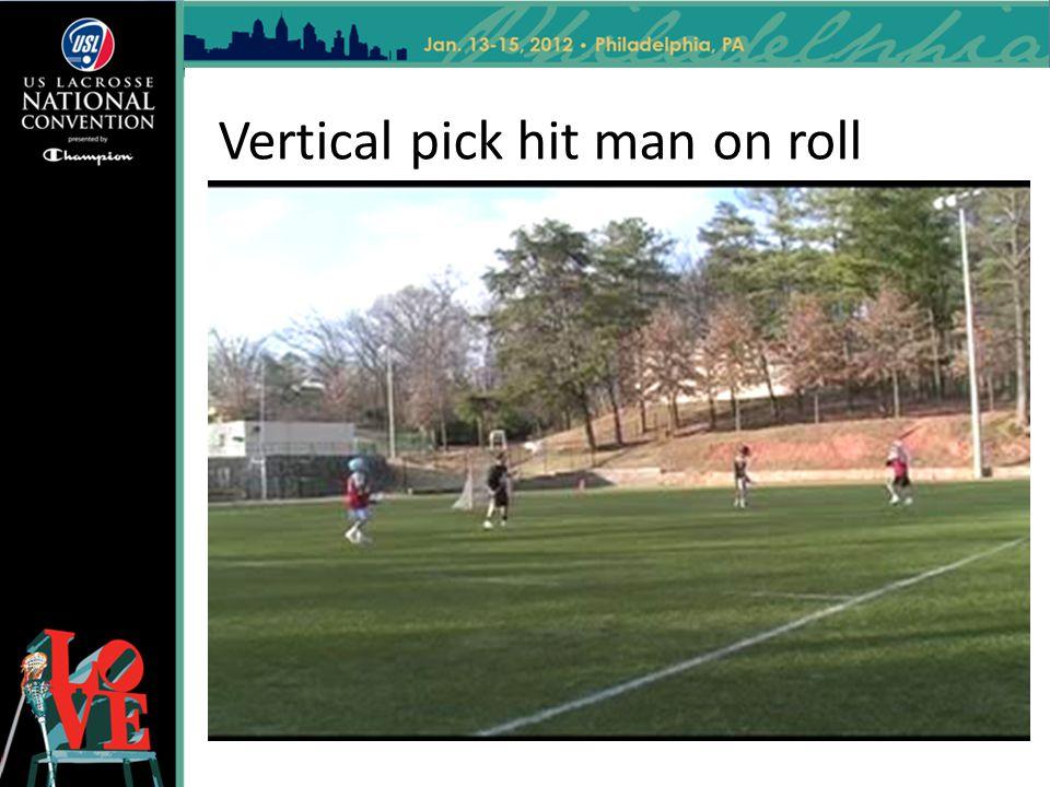 Vertical pick hit man on roll