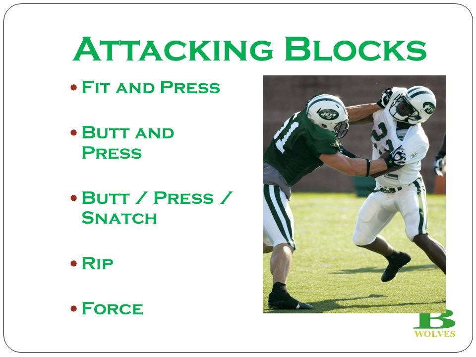 Attacking Blocks Fit and Press Butt and Press Butt / Press / Snatch Rip Force