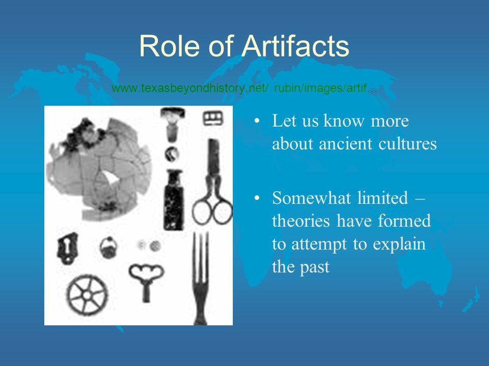 Role of Artifacts www.texasbeyondhistory.net/ rubin/images/artif...