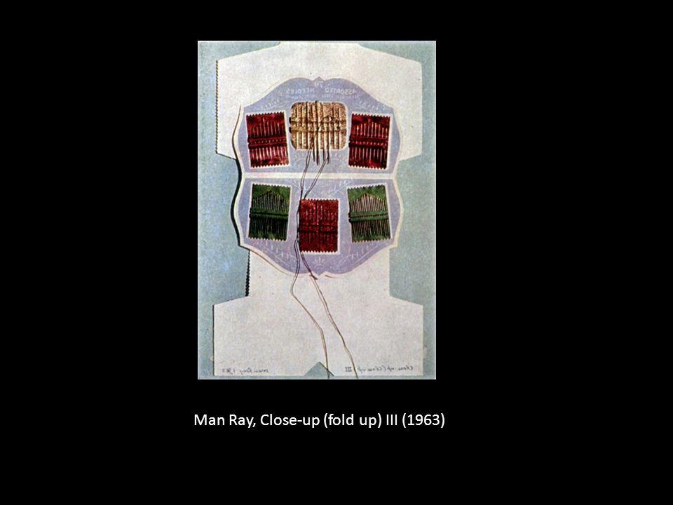 Man Ray, Close-up (fold up) III (1963)