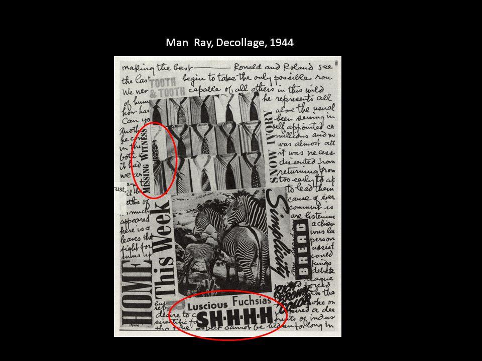 Man Ray, Decollage, 1944