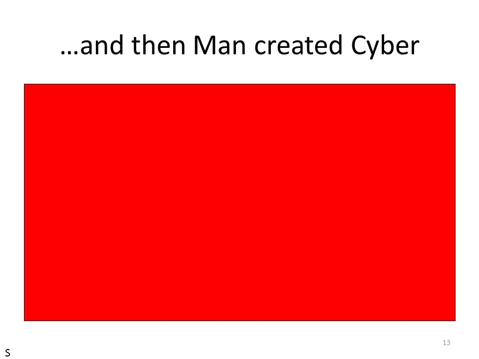 …and then Man created Cyber 13 S