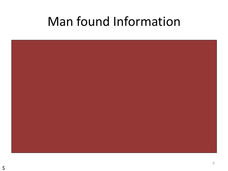 Man found Information 9 S