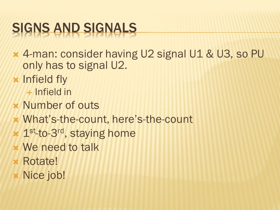 4-man: consider having U2 signal U1 & U3, so PU only has to signal U2.