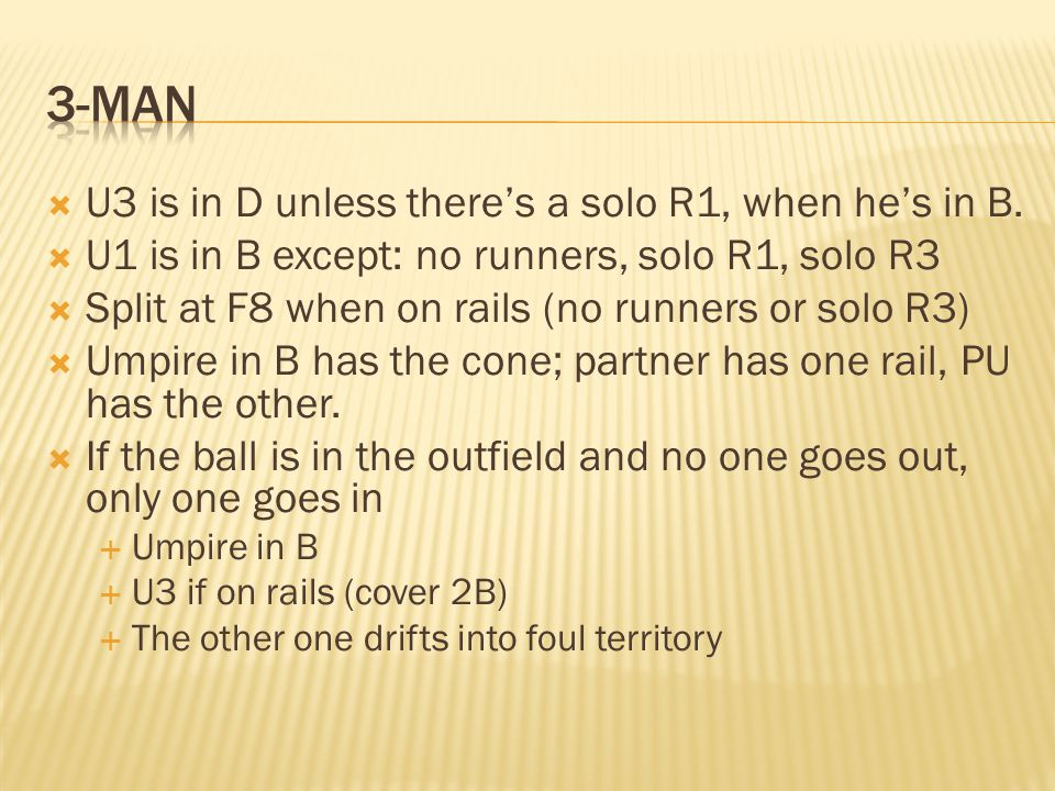 U3 is in D unless theres a solo R1, when hes in B.
