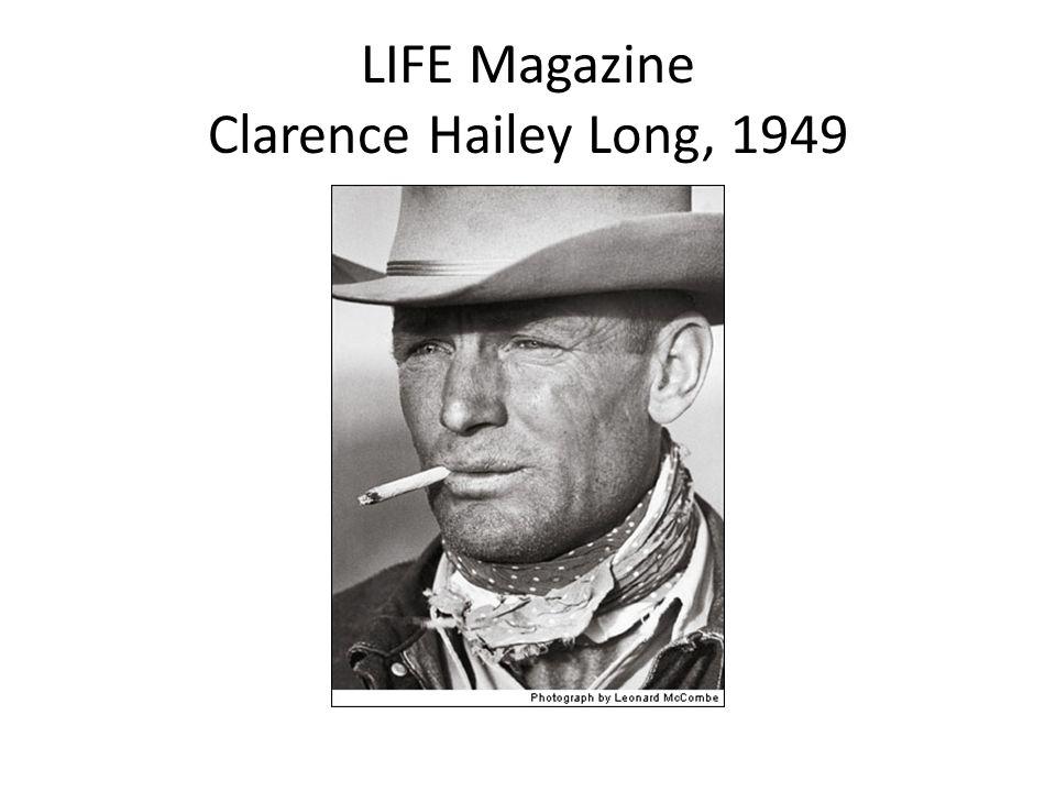 LIFE Magazine Clarence Hailey Long, 1949