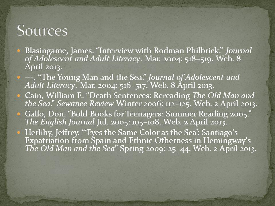 Blasingame, James.Interview with Rodman Philbrick.