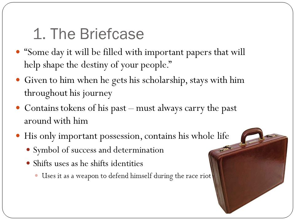 1. The Briefcase Some day it will be filled with important papers that will help shape the destiny of your people. Given to him when he gets his schol