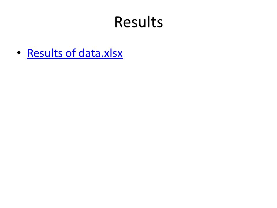 Results Results of data.xlsx