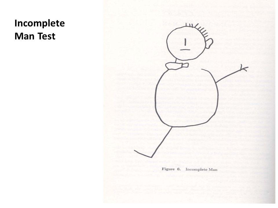 Incomplete Man Test