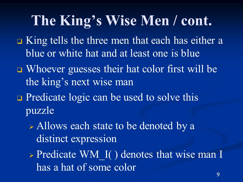 The Kings Wise Men / cont.
