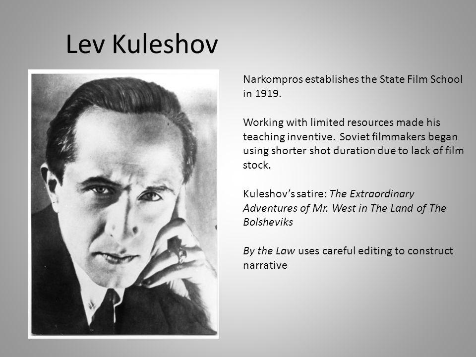 The Kuleshov effect The effect of leaving out a scenes establishing shot and leading the spectator to infer spatial or temporal continuity from the shots of separate elements