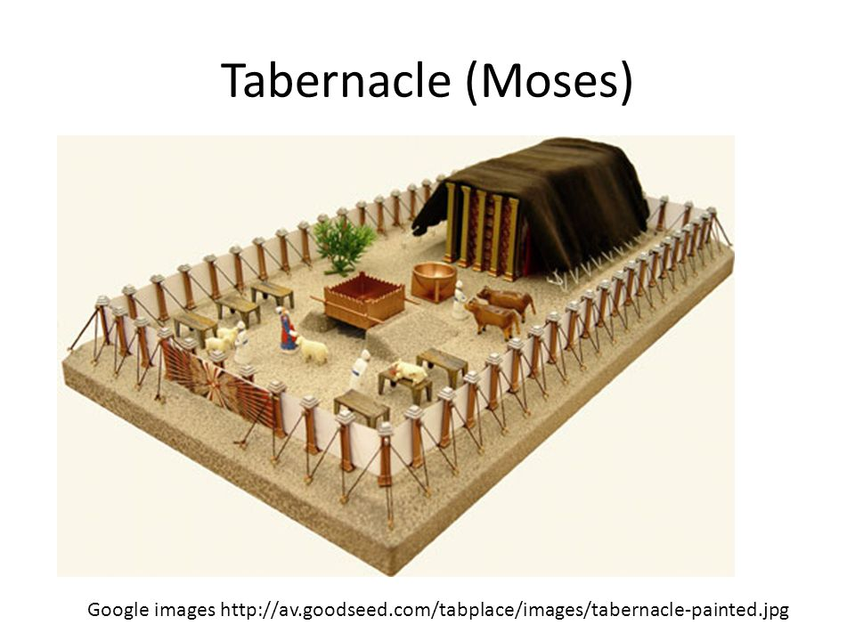 Tabernacle (Moses) Google images http://av.goodseed.com/tabplace/images/tabernacle-painted.jpg