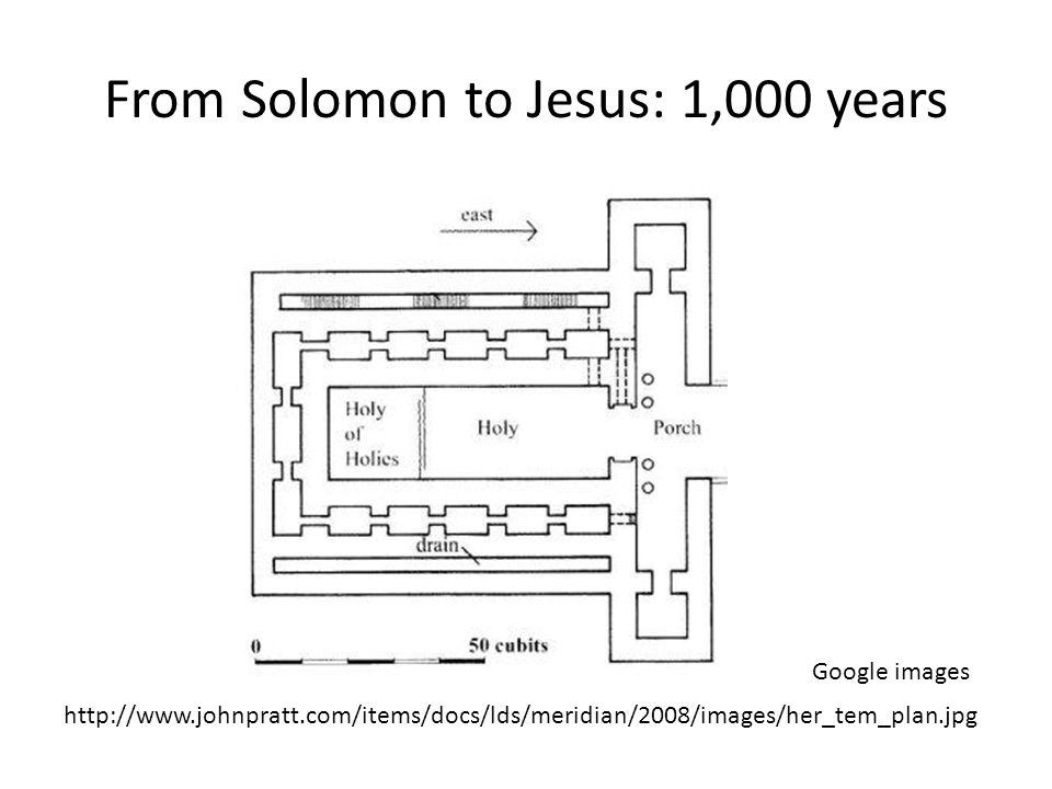 From Solomon to Jesus: 1,000 years Google images http://www.johnpratt.com/items/docs/lds/meridian/2008/images/her_tem_plan.jpg