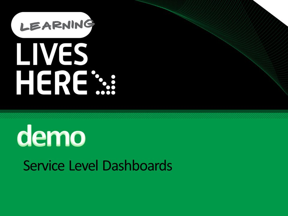 Service Level Dashboards