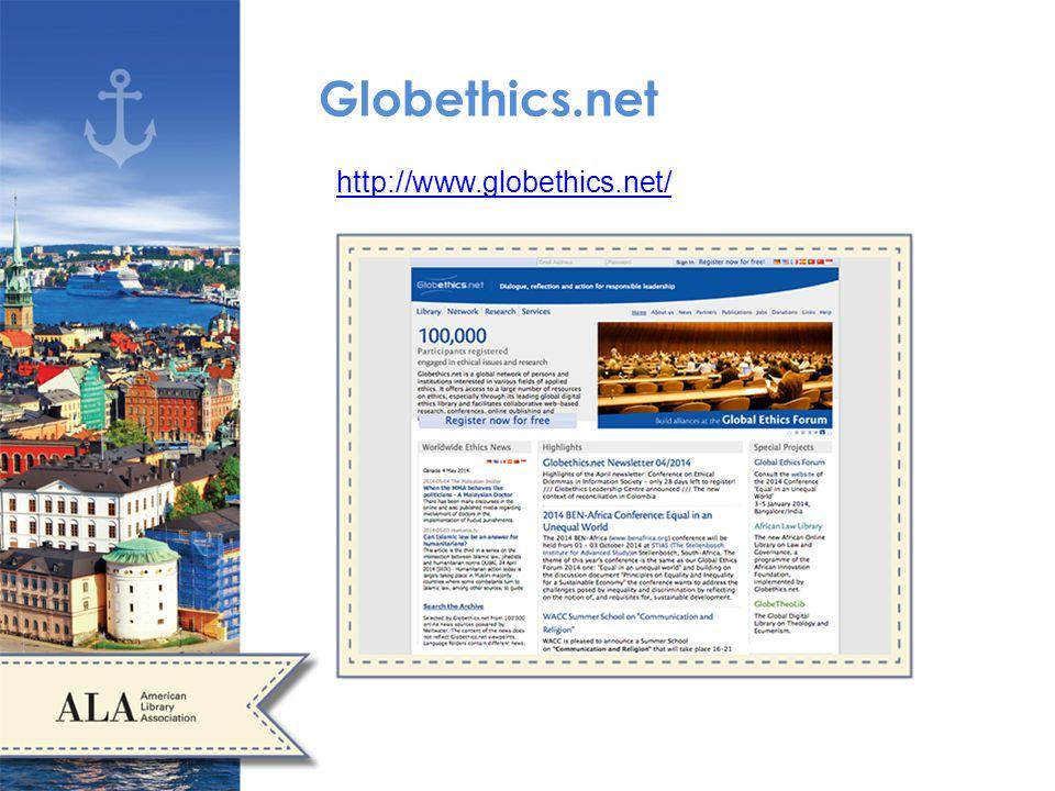 Globethics.net http://www.globethics.net/
