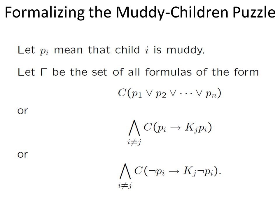 Formalizing the Muddy-Children Puzzle