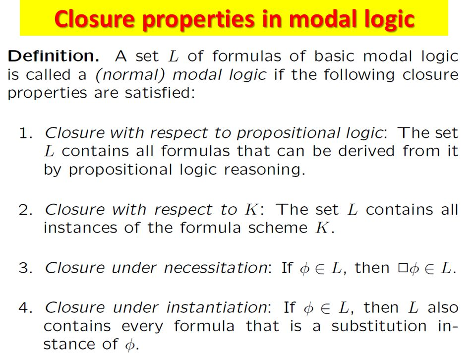 The Modal Logic KT45 n Many applications require models with several interacting agents.