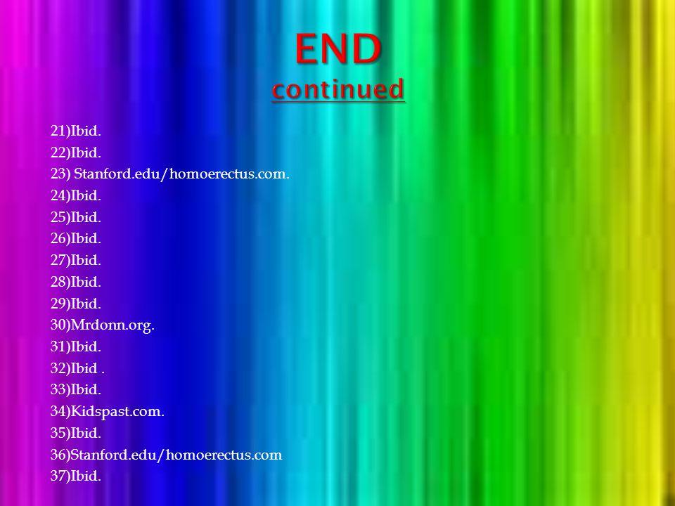 1) Homo Erectus, http://www.earlyhumans.mrdonn.org. 2)Ibid. 3)Ibid. 4)Ibid. 5)Homo Erectus, http://www.Kidspast.com. 6)Ibid. 7) Mrdonn.org. 8)Ibid. 9)