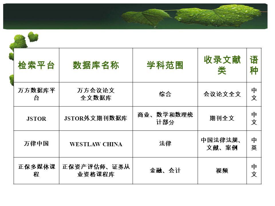 JSTOR WESTLAW CHINA