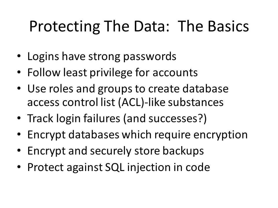 Moving Beyond The Basics Key assumption: your organization already handles the basics fairly well – If not, I know of a tax shelter consulting firm which can help… More advanced attacks (from Derbycon 2012) – Reversing SQL authentication passwords – SQL Server man in the middle attack